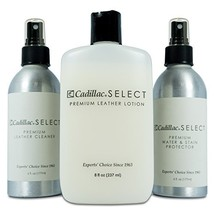 Cadillac Select Premium Leather Care Kit - Leather Cleaner, Lotion Condi... - $38.59