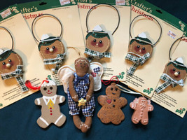 Lot of 9 Gingerbread Themed Ornaments R.O.C. Tender Heart Treas. CRAFTS ... - $9.89