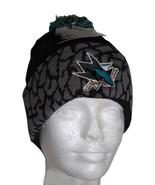 NHL San Jose Sharks   Logo  Knit Pom Beanie Cap  - $24.74