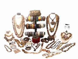 Large Safari Jungle Inspired Jewelry 10lb Lot Necklace Bracelet Earrings Clutch image 1