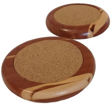 Handcrafted Cedar Coasters set of 2 - $9.99