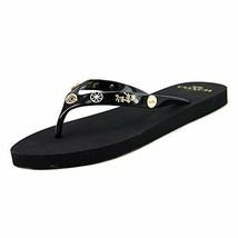 NEW COACH Womens Alyssa Charms Slip On Open Toe Flat Thong Flip Flops Re... - $52.00