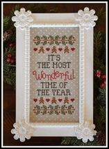 Wonderful Time Of The Year christmas cross stitch chart Country Cottage Needlewo - $7.20