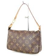 Authentic LOUIS VUITTON Accessory Pochette Monogram Hand Bag #34246 - $409.00