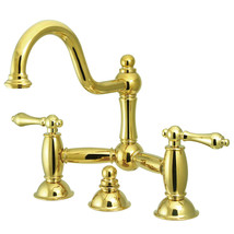 "Two Handle 8"" Widespread Lavatory Faucet with Brass Pop-up - $296.38"