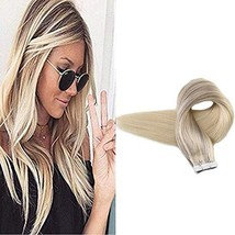 Full Shine Tape In Hair Extensions Pastel Hair Dye Nordic Balayage Color 18 Ash