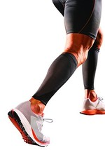 Shock Doctor SVR Recovery Compression Calf Sleeve, Black, Adult-Large
