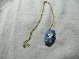 Chinese Export Cloisonne Enamel Brass Urn Vase Bird Pendant Chain Necklace - $18.99