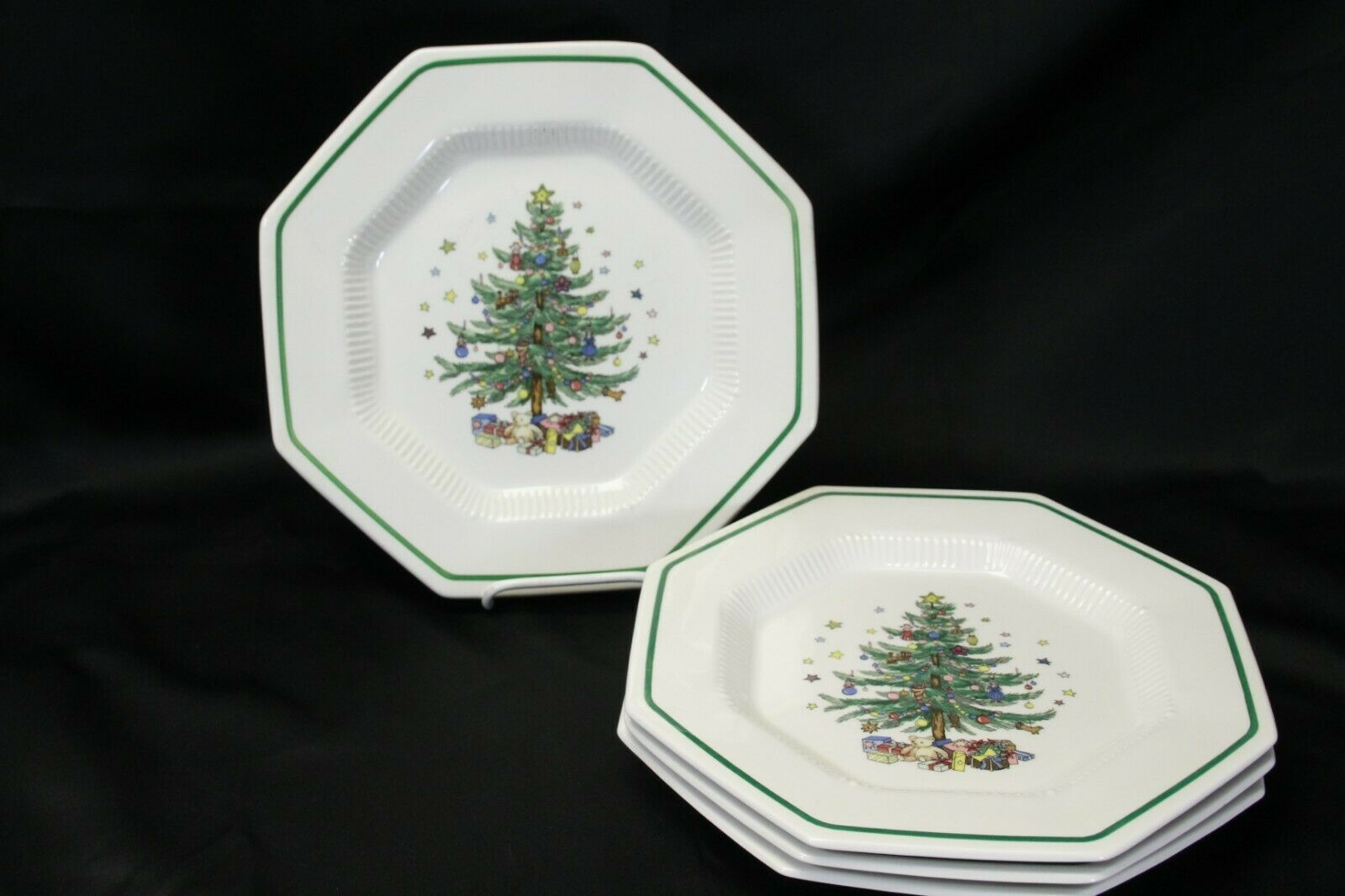 "Primary image for Nikko Christmastime Salad Plates 8.25"" Lot of 5 Christmas"