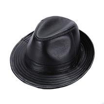 Sandy Ting Sheepskin Leather hat Classic Cowboy Fedora Hat (X-large/23-2... - $31.76