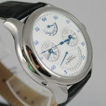 CAPITAL WATCH AUTOMATIC TY2545 MOVEMENT 40 RUBIES POWER RESERVE DOUBLE TIME ZONE image 2