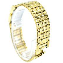 Seiko 1N00-6C09 Gold Tone Stainless Rectangle Diamond Accent Quartz Wristwatch image 4