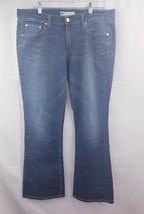 Levis 518 womens jeans super low boot cut sz 15M blue wash stretch - $14.99