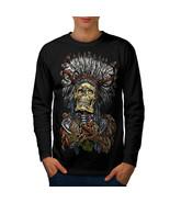 Native Metal Badass Skull Tee Native Face Men Long Sleeve T-shirt - $14.99