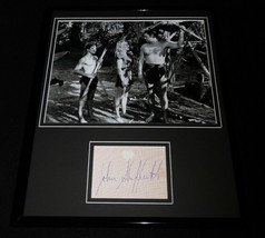 Johnny Sheffield Signed Framed 11x14 Photo Display Tarzan Bomba - $42.18
