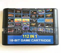 Multi Cart SEGA MD GENESIS MegaDrive 112 in 1 Mega Combo Vintage Game Ca... - $19.99