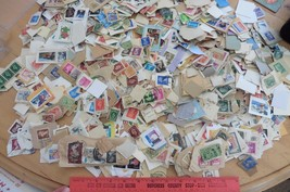 Used Stamps Apx 1500+ mostly USA & Great Britain stamps + few internatio... - $11.63