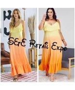 Sunrise Sunset Color Block Ombré Sleeveless Maxi Dress - $37.00