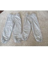 Franklin boys baseball grey pants, 2pk, Sizes Y-S & Y-M, pre-owned, elas... - $5.94
