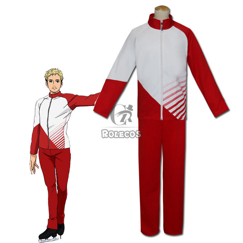 Primary image for YURI!!! on ICE Christophf Giacometti Sportswear Jersey Uniform Cosplay Costumes