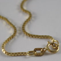 18K YELLOW GOLD CHAIN 1 MM VENETIAN SQUARE LINK 23.60 INCHES, MADE IN ITALY image 4