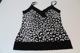 W12834 Womens White House Black Market Black & White Sweetheart Blouson Top Med - $30.89