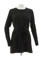 H Halston Faux Suede Jacket Sweater Knit Slvs Black 2 NEW A281814 - $42.55