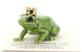 Hagen-Renaker Miniature Ceramic Frog Figurine Birthstone Prince 10 October Opal