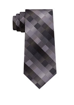 "Van Heusen Men's The Bruck Plaid Pattern Red Black Silver 3"" W Classic N... - $24.99"