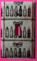 Coke Coca Cola Old bottles Light Switch Power Outlet Wall Cover Plate Home decor image 1