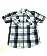 Levi's Pearl Snap Shirt Men's Size Medium M Button Up Double Pocket Blue... - $23.53