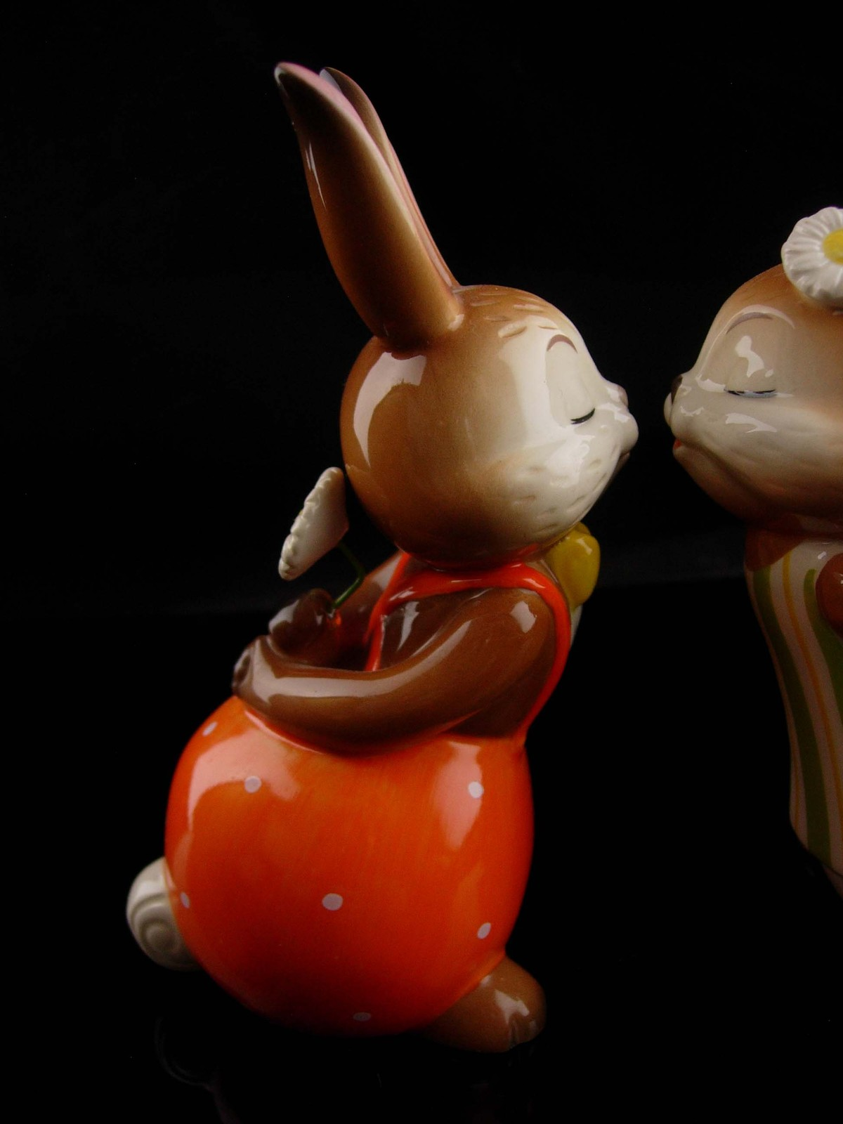 Vintage kissing bunny goebel - new mom gift - mothers day gift - german figurine image 6