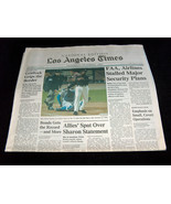 San Francisco Giants RARE LA Times 2001 Barry Bonds 71, 72 HR Newspaper ... - $39.98