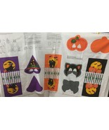 VIP Cranston Halloween Fabric Panel Trick or Treat Bags Masks Witch Cat ... - $29.99