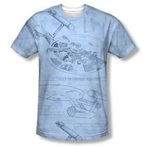 Star Trek The Original Series Enterprise Cut-Away Blue Print T-Shirt 3X NEW - $28.78