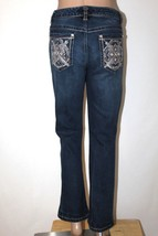 "NINE WEST Women's Size 6 Jewel Embellished Boot Cut Stretch Jeans 29"" In... - $28.05"