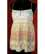 JUICY COUTURE beige cotton spaghetti strap blouse 2 (T34-02D8G) - $9.88
