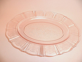 Pink American Sweetheart Platter Depression Glass Mint MacBeth Evans - $29.97