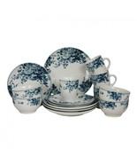 Elama Traditional Blue Rose 16 Piece Dinnerware Set - $65.99