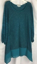 Womens Notations Green Tunic Size Small  - $10.69