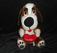 "11"" Vintage 1996 Ace Novelty Puppy Dog Stuffed Animal Plush Toy I Love You Heart - $20.30"