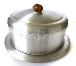 Vintage Aluminum Co. Round Cake Pan Cover Acorn Lid Leaf Design MCM - $19.99