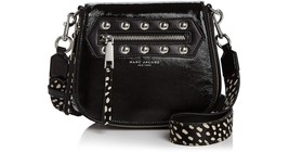 MARC JACOBS Nomad Studded Calf Hair Strap Small Patent Leather Saddle Bag - ₨29,818.09 INR