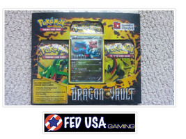 Pokemon Dragon Vault Blister Pack Druddigon Promo, 3 Booster Packs Pokem... - $28.50
