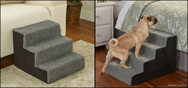 Sherpa Covered Pet Steps Stool Stairs Soft Portable Small Pets Dogs Cats... - $32.99+