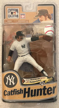McFarlane Catfish Hunter MLB Cooperstown 8 NY Yankees VARIANT Broze Chas... - $60.76