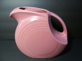 Fiestaware Homer Laughlin Pink Rose Large Disc Water Pitcher 1986 Vtg - $68.31