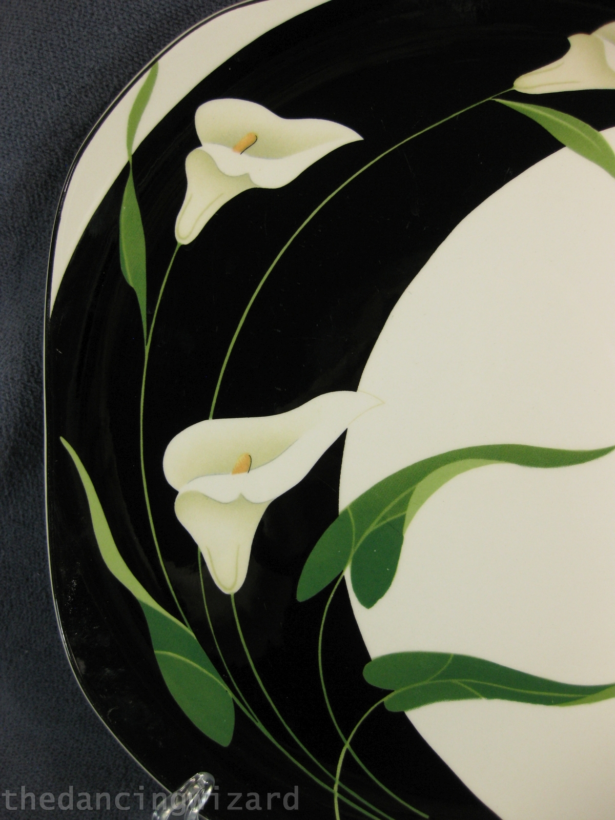 Sango Black Lilies 5101 Dinner Plates Lot Of And 23 Similar Items