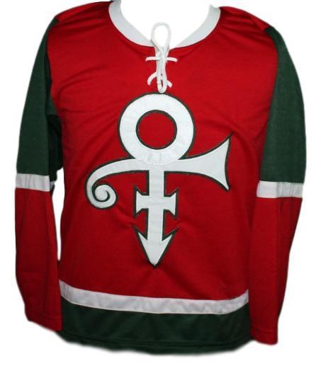 Custom name   prince musician hockey jersey red   1