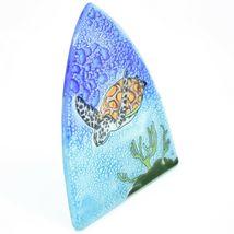 Fused Art Glass Swimming Sea Turtle Nightlight Night Light Handmade Ecuador image 6